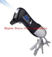 Wholesale 2016 New digital Tire Pressure Gauge in LED Flashlight Hammer Knife Scissors Screwdriver Pliers Cleaver tyre pressure