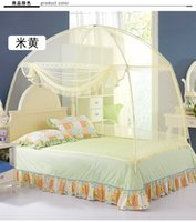 Wholesale mosquito net Chinese Olympic athletes only Mosquito nets folding scaffold student zipper bottomed M M M bed yellow