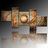 best living artists - Professional Artist Hand painted High Quality Modern Wall Decoration Oil Painting Best Brown Colors Oil Painting For Living Room
