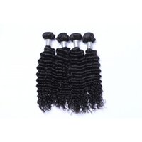 Wholesale Grade A Deep Wave Human Hair Bundles with Closure Cheap Brazilian Full Head Hair Extensions Human Hair Weaves UK Pieces