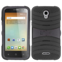 alcatel touch phones - Universal Rugged Case Defender Armor Hybrid Kickstand Phone Cover for Alcatel One Touch Elevate E Fierce XL N Conquest