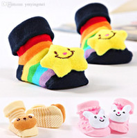 baby bootie patterns - Buy get infant months newborn sock D Cartoon Patterned baby Anti slip Socks Carpet Bootie indoor shoes winter autumn