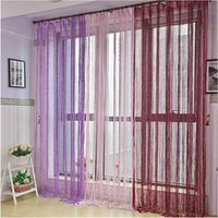 Wholesale New Tassel Silver Silk String Curtain Window Door Divider Sheer Curtains Valance