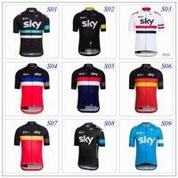 Wholesale Summer Style Sky Cycling Jerseys Five Colors Cycling Clothes Jerseys Tour De France Bike Suit XS XL