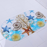Wholesale New Arrival PVC Non Slip Bath mat Tub Massage shower mats with sucker for child baby bath pad bathroom accessories