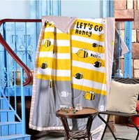 bee homes - 180 cm The Quilt Of Warm Summer The Busy Bee Cotton Fabric The Children Like Soft And Comfortable To Help Sleep