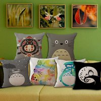 Wholesale Cute Anime chinchilla Totoro pillow Cases Cushion Pillowcase Cover linen cotton Home soft Textiles beddng sets Christmas gift