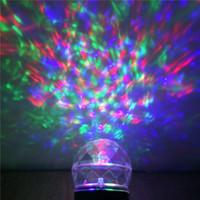 Wholesale Newest LED Mini Fashion christmas wedding decoration lights string Party Stage LED RGB Crystal Ball laser Light