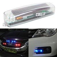 Wholesale Fashinable Car Solar Strobe Flashing Lights Emergency Light Auto Accessories Fog Lamp Grill Warning Lights