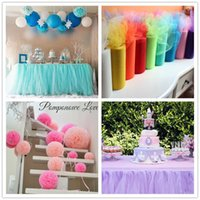 Wholesale Tulle Roll cm Yards Meters Roll Fabric Spool Tutu Party Birthday Gift Wrap Wedding Decoration Crafts Festive Supplies
