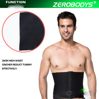 Wholesale Three Male Breasted Corset Belt sSimming Fat Burning To Reduce Weight Loss Results In Tight Black Beer Belly