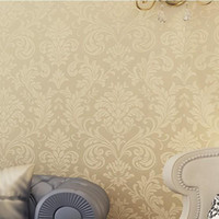 Wholesale non woven wallpaper gold background wall wallpaper damask classic wall papers home decor bedroom tapete for living room wp123