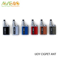 Single ant kit - Authentic IJOY CIGPET ANT W Starter Kit Ant atomizer Ultra Compact Form Factor Top Loaded Powered