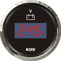 auto volt meter - KUS Brand New Digital Voltage Meter Voltage Pressure Meter V V For Boat Auto Motor Home Black Color