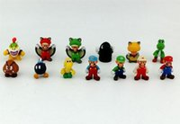 Wholesale 5lot cute Super Mario PVC cartoon mini Action Figures kids toy figure Gifts Christmas gift D759