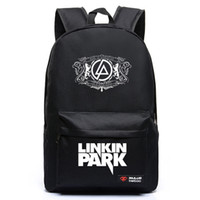 achat en gros de adolescent rock-Livraison gratuite Harajuku Canvas Galaxy Rock Music Linkin Park Impression Sac à dos Sacs scolaires pour adolescents Travel Bag Mochila Escolar