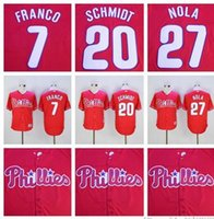 arrival mike - Philadelphia Phillies Maikel Franco Jersey Aaron Nola Jersey Mike Schmidt Jersey New Arrivals Red