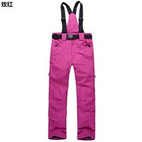Wholesale Men and women couple models outdoor ski pants overalls thick warm waterproof trousers Trousers mountaineering shipping