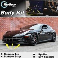 Wholesale Bumper Lip Lips For Ferrari FF Front Skirt Deflector Spoiler For Car Tuning The Stig Recommend Body Kit Strip