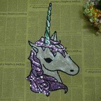 Wholesale Large fashion cloth lace accessories beads embroidered Sequin patch T shirt Decor Aberdeen chapter Unicorn horse