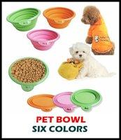 Wholesale 100pcs High Quality Grade Fold Pet Bowl Folding Dog Bowl Pet Food Dish Pet Feeders