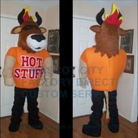 advertising colleges - Strong Bull Ox mascot Costume Adult Cartoon Bull Theme Sports College Advertising Carnival Anime Cosply Costumes Fancy Dress