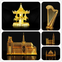 Wholesale New arrival HK NanYuan Chinese ICONX D Metal Earth Model Puzzle Exquisite packaging Creative gifts DIY Assembling