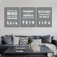 beatles vintage music sheet - Triptych Original Vintage Pop Beatles Music Quote Canvas A4 Art Print Poster Wall Picture Living Room Bar Deco Painting No Frame