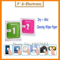 apple removal tool - 400pcs set Camera Lens Phone LCD Screen Dust Removal Dry Wet Cleaning Wipes Paper tools Set alcohol package for iPhone s