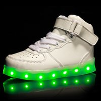 leather soles for shoes - Children Casual Baby Led Girls Luminous Shoe Soles With Light Kids Glow Charging Sneakers Students For Child Boys Shine Sport Board Shoe