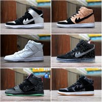 Drop Shipping Wholesale Fameux Dunk High Pro SB Cork Tin Man Hommes Femmes Chaussures Skateboard Sneakers Sports Running Shoes Taille 5.5-10