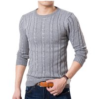 Wholesale New Mens Sweaters Winter Candy Color Brand Sweater Men Pullover Long Sleeve Casual Men Jumper Sweater Fashion Clothes