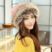 Wholesale New autumn and winter plus velvet fur hat knitted scarf Mongolian fashion princess warm hat Scarf dual use multi function