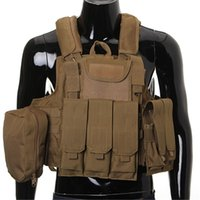 Wholesale Tactical Vest Airsoft Paintball Combat Vest W Magazine Pouch Utility Bag Releasable Armor Carrier Vest colors option