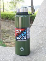 Wholesale Outdoor Sports travel mug Double Wall Vacuum Insulated Stainless Steel Water Bottle support mix order