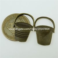 antique buckets - 12838 Antique Vintage Bronze Tone Alloy Bucket Tool Pendant Charm