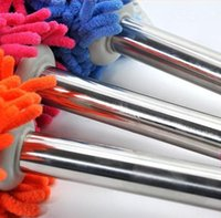 used trucks - Chenille Microfiber Cleaning Duster Dirt Dust Tool Auto Car Truck Home Office Car cleaning brush car home dual use stainless steel handle