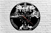 australia decor - EMS Pieces Home Decor For Traveller Retro Timepieces Australia Sydney City Sightseeings Clock