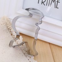 Wholesale 1x Santa Claus Shaped Cookie Cutter Mold Stainless Baking DIY Fashion Design Hot Sale