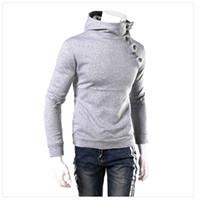 Wholesale Slim Mens Pullover Hoodie Sweatshirt Fur Collar hoody