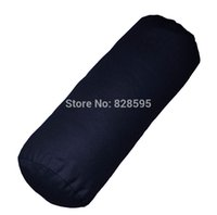 Wholesale aa134g Dark Blue Cotton Canvas Round Bolster Yoga Cushion Cover Cushion Case Pillow Case Custom Size kinds of colors