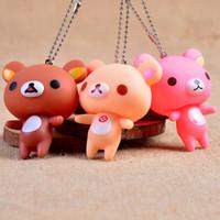 Wholesale Mobile Phone Straps Charms Kawaii Squishies Rilakkuma Bear Key Chain D Bag Pedant