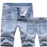 cheap jeans for men - cheap Luxury balmain jeans for men stylish jeans slim fit short skinny jeans balmain shorts men s pants