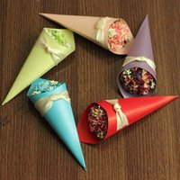 Cheap Hydrangea Flowers paperboard wedding favors gift boxes Ice Cream shaped candy box for wedding birthday party decorations supplies 5 colors