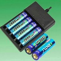 aa lithium charger - KENTLI AA battery one set contains v mah Li polymer li ion polymer lithium rechargeable AA battery slots USB smart Charger