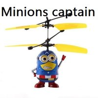 toy rc aircraft - Hot sale Me Minions Pattern Reaction Control Toys Mini RC Helicopter Aircraft Model Toy Children Kids Boy Children Toys