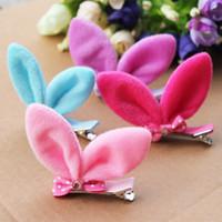 Wholesale Super cute adorable rabbit ears children hairclip Child Girls Hair headdress jewelry accessories