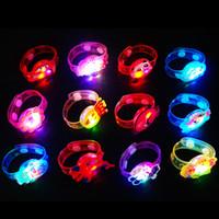 Wholesale Flash LED Lighting Children Bracelet Wristband Birthday Gift Party Decoration Kids Cartoon Flashing Luminous Bangles