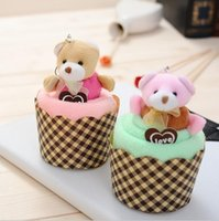 Wholesale Creative Wedding Party Gifts Teddy Bear Cup Cake Towel Gift Towel Marriage Wedding Gift in Return
