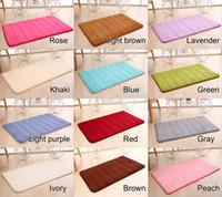 Wholesale 1 mandi busa memori tikar Kamar mandi garis horisontal karpet Non Slip mandi tikar padat warna yang tersedia cm